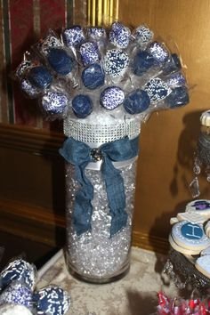 Image result for denim and diamonds centerpiece ideas