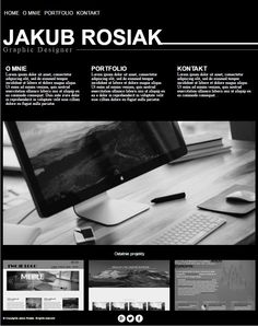 Simple black portfolio