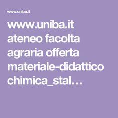 www.uniba.it ateneo facolta agraria offerta materiale-didattico chimica_stal…