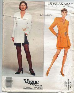 Vogue Sewing Pattern  Donna Karan Semi-Fitted Jacket and Shorts  Sz 12-14-16 UC…