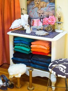 Get rid of the drawers | 99 Clever Ways To Transform A Boring Dresser