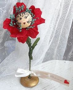 FLAPPER Betty Boop Flower Girl 1930s Vintage Valentine Table Decoration   eBay sold $56.00