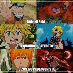 Hahahaha Naruto, Meliodas e Ichigo meus amores Anime Meme, Otaku Anime, Anime Naruto, All Anime, Anime Manga, Boruto, Naruto Shippuden Sasuke, Seven Deadly Sins Anime, Bleach Anime