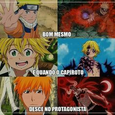 Hahahaha Naruto, Meliodas e Ichigo meus amores Anime Meme, Otaku Anime, Anime Naruto, Naruto Funny, Naruto Shippuden Sasuke, All Anime, Boruto, Anime Manga, Bleach Anime