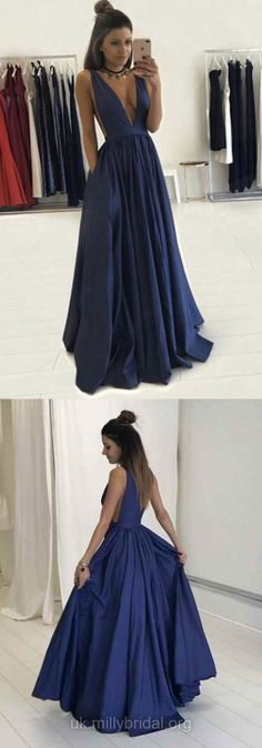 Pleated Prom Dresses, Royal Blue A-line/Princess Prom Dresses, Long Royal Blue Prom Dresses, Sexy Deep V-neck Long A Line Prom Dresses Graduation Party Dresses For Teens Blue Homecoming Dresses, Royal Blue Prom Dresses, Princess Prom Dresses, V Neck Prom Dresses, Ball Gowns Prom, A Line Prom Dresses, Beautiful Prom Dresses, Cheap Prom Dresses, Sexy Dresses