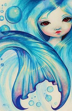Art: Bubbles and Blue by Artist Nico Niemi