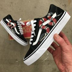 Gucci Vans Old Skool - Custom Painted Gucci Snake Shoes