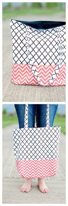 Simple Tote Bag Pattern                                                                                                                                                                                 More