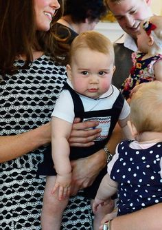 April 9, 2014 - The Many (Adorable) Angles of Prince George of Cambridge - Prince George Makes a Friend from #InStyle
