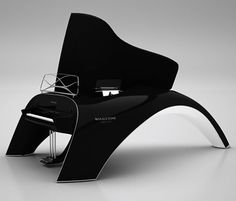 Whaletone piano by Robert Majkut The Whaletone - by far the coolest piano I have ever seen!The Whaletone - by far the coolest piano I have ever seen! Electric Keyboard, Electric Piano, Piano Art, Colani, Keyboard Piano, Playing Piano, Piano Lessons, Music Stuff, Art Music