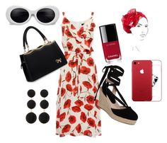 """""""My summer"""" by anne-lise-knoph on Polyvore featuring Topshop, Chanel, Cara, Rinati Lakel and beautifulhalo"""