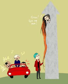 Hahahahahaha! I found this on EatYourKimchi's facebook. It is a picture of BIGBANG - GD is up in the tower.