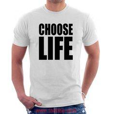 ee7ba76a7816c8 Buy Choose Life Wham Retro 80s T Shirts Fancy Dress Inspired Vintage T Choose  Life