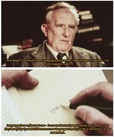 I'm definitely not as clever as Tolkien... totally wish I was, though!
