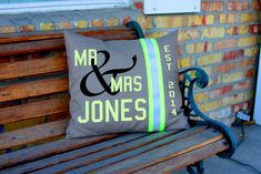 NEEEEED  Hey, I found this really awesome Etsy listing at https://www.etsy.com/listing/210893366/wedding-pillow-firefighter-themed