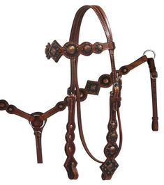 Vintage Rosette Headstall & Breast Collar Set 12789