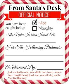 Free Printable Letters From Santa Templates   Christmas