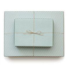 SUGAR PAPER POOL BLUE REVERSIBLE WRAP #WrappingPaper #SugarPaper
