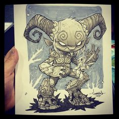 The Faun from Pans Labyrinth! Great sketch request. #panslabyrinth #pan #chibi
