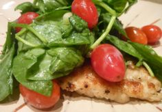 Chicken Paillard with Honey-Buttermilk Spinach Salad from Reservation for Two Small Meals, Meals For Two, Meal Recipes, Chicken Paillard, Chicken Recipes For Two, Food 101, Domestic Goddess, Spinach Salad