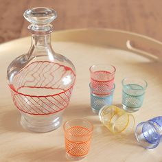 shot glass set + decanter