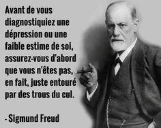 Sigmund Freud , et c'est LUI qui le dit ? Quotes Español, Yoga Quotes, Motivational Quotes, Funny Quotes, Inspirational Quotes, Peace Quotes, Positive Mind, Positive Attitude, Mantra