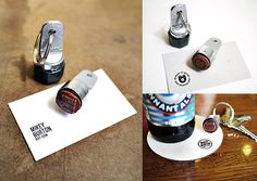 Leave Your Mark! Use a Key Chain Stamp to Turn Anything Into a Business Card