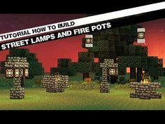 Minecraft Tutorial: How to Build Street Lamps & Fire pots! (Light Up Your Cities & Towns)