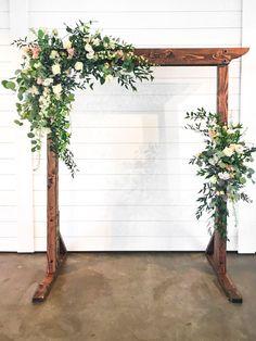 Beautiful, romantic blush Diy Wedding Arbor, Wedding Arch Flowers, Floral Wedding, Wedding Bouquets, Wedding Floral Arrangements, Simple Wedding Arch, Wedding Ideas, April Wedding, Fall Wedding