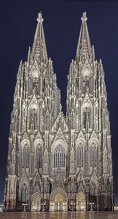 Cologne Dom, Germany, Pointed arches and triangular patterning on the exterior. Early 12th century