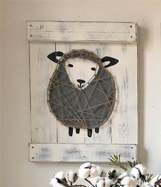Sheep nursery decor, lamb nursery art, rustic sheep decor, above the crib, rustic Sheep Nursery, Lamb Nursery, Grey Nursery Boy, Rustic Nursery, Nursery Art, Nursery Decor, Boys Bedroom Themes, Kids Bedroom Designs, Boys Room Decor