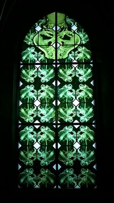 Stained glass by Wim Delvoye