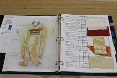 Swatch book example- from an operatic costume designer