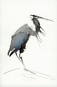 Heron by Brenda Behr was selected as a Finalist in the October 2013 BoldBrush Painting Competition. Japanese Painting, Chinese Painting, Chinese Art, Japanese Art, Chinese Brush, Watercolor Animals, Watercolor And Ink, Ink Painting, Watercolor Paintings
