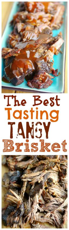 The Best Tasting Slow Cooker Tangy Brisket is a delicious dinner with ...