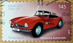 great stamp Germany 145c (BMW 507 Roadster; 1956/59) timbres Allemagne  우표 독일 유럽 sellos Alemania selos Alemanha γραμματόσημα Γερμανία frimerker Tyskland markica Njemačka pullari Almanya 郵便切手 切手 スタンプ  ドイツの ヨーロッパ postzegels duitsland francobolli Germany