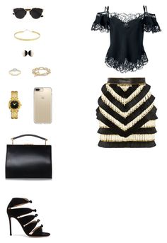 """House of Madalani"" by houseofmadalani on Polyvore featuring Balmain, Givenchy, Gianvito Rossi, Versace, Speck, Christian Dior, Modern Bride, David Yurman and Lana"