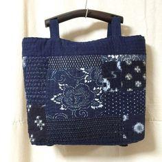 Japanese Boro Remake Tote Bag, Quilt Tote Bag, Sashiko Bag, Everyday Bag, Kasuri Bag, Hand Sewn, Aizome, Katazome, FREE SHIPPING