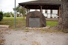 Marker showing where Geronimo died in 1909, Fort Sill, OK.  Better shot.  My old barracks in the background.