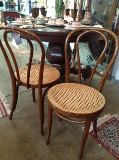 Classic Pair of Bentwood Accent Chairs in Near West Side, Chicago ~ Apartment Therapy Classifieds