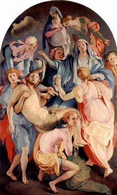 Jacopo Pontormo, El Descendimiento de la Cruz - patrones sutiles-