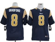 NFL Jersey's Youth St. Louis Rams Sam Bradford Nike Navy Blue Limited Jersey