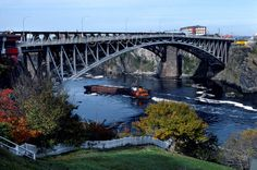 new brunswick. canada | canada369: New Brunswick, Canada: tugboat pushing barge down the St ...