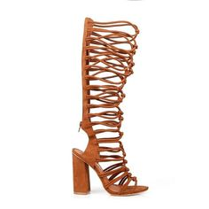 Toi et Moi Misto04 Peep-toe Tall Women's High Heel Sandal in Brown *** See this great product.