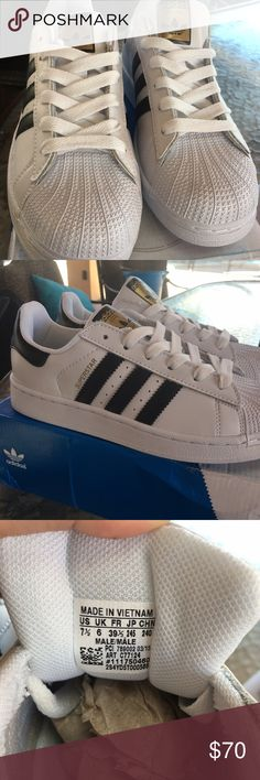 Adidas Superstar Shoes Original Adidas Superstar Shoes Original 7 1/2 Men's - 8 1/2 Women's. These shoes are brand new never been used. I bought them from amazon and received the wrong size. Adidas Shoes Sneakers