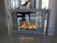 Ethanol Fireplace - The Bio Flame Sek XL - Free Standing See-Through Ethanol Fireplace