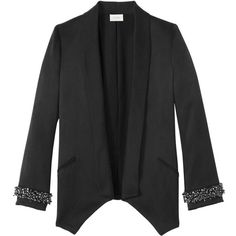 Semsem Dana Embroidered Jacket ❤ liked on Polyvore featuring outerwear, jackets, embroidered jacket and embroidery jackets