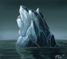How to draw an iceberg and to create any form of ice:  http://www.youtube.com/watch?v=V6eaXc0q01Q    Another video in the same environment:   http://www.youtube.com/watch?v=-OR59bGhAqU