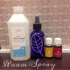 Another thing I no longer buy since using oils - air freshener! Here's how to make your own room spray: Just get a 4oz glass spray bottle and fill half with distilled water and half with witch hazel (but leave a little room at top for oils). You can add extra oil if you want the scent to be stronger, but I personally do about 20 drops of Young Living essential oil. I like to use 10 drops of lemon and 10 drops of Purification for the bathroom. Just give it a little shake and spray away.