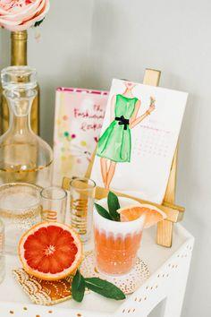 Grapefruit Sage Mimosa Cocktail Recipe by Simply Jessica Marie | Zipporah Photography | Nashville Wedding Photographer